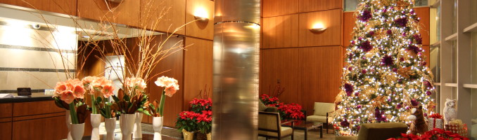 Holidays in the Lancaster lobby