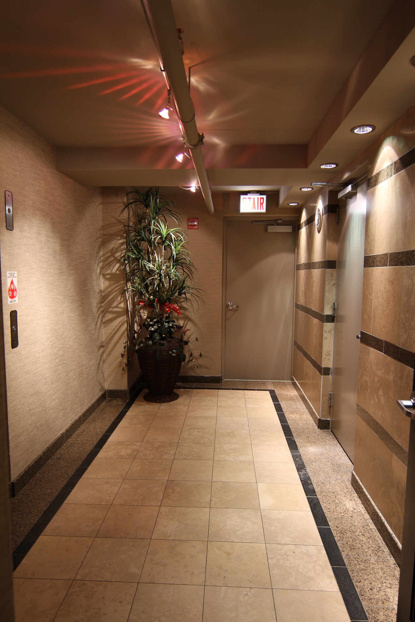 Lancaster Vestibule areas to Lounge and Fitness Center