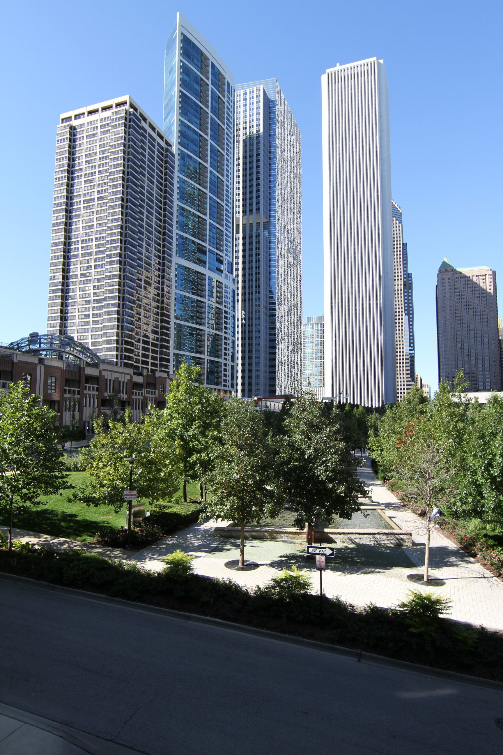City views in the park